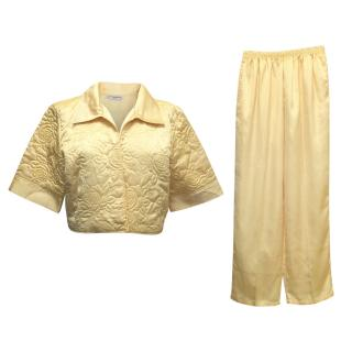 Yves Saint Laurent Yellow Satin Pyjamas