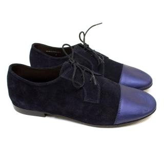 Lanvin Blue Suede Dress Shoes