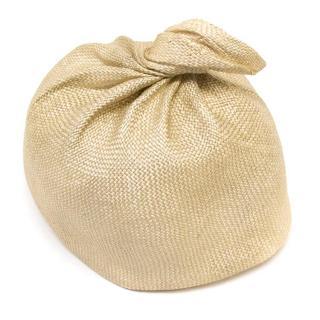 Yvette Jelfs Beige Pillbox Hat