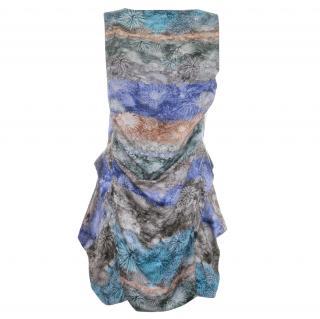 Peter Pilotto Silk Printed Draped Dress