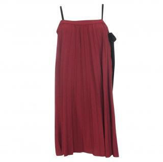 Miu Miu Pleated Crepe Dress