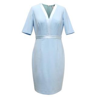 Diane Von Furstenberg Baby Blue Fitted Dress