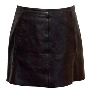 Rag & Bone Black Leather Mini Skirt
