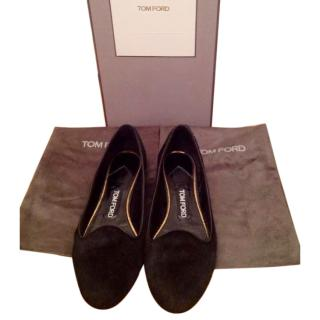 Tom Ford Womens Stunning Ballerina Black Flat Shoes