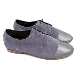 Lanvin Grey Suede Dress Shoes