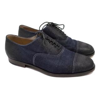 Bottega Veneta Blue Denim Brogues