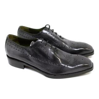 Donald J Pliner Grey Patent Dress Shoes