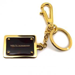 Dolce & Gabbana Logo keyring bag charm