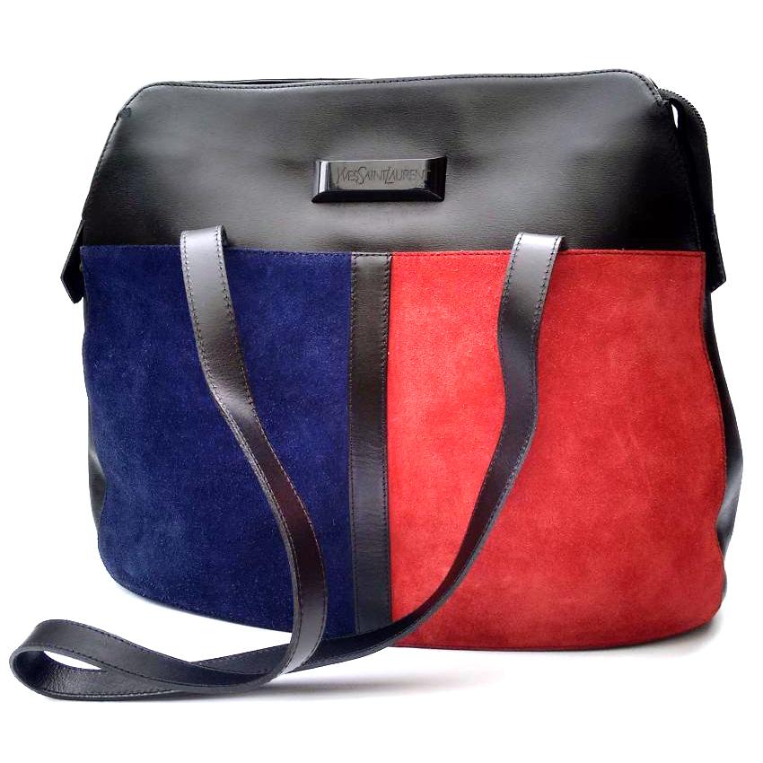 Laurent Bag Ysl Yves Mondrian Vintage Shoulder Saint nwNP80kXO