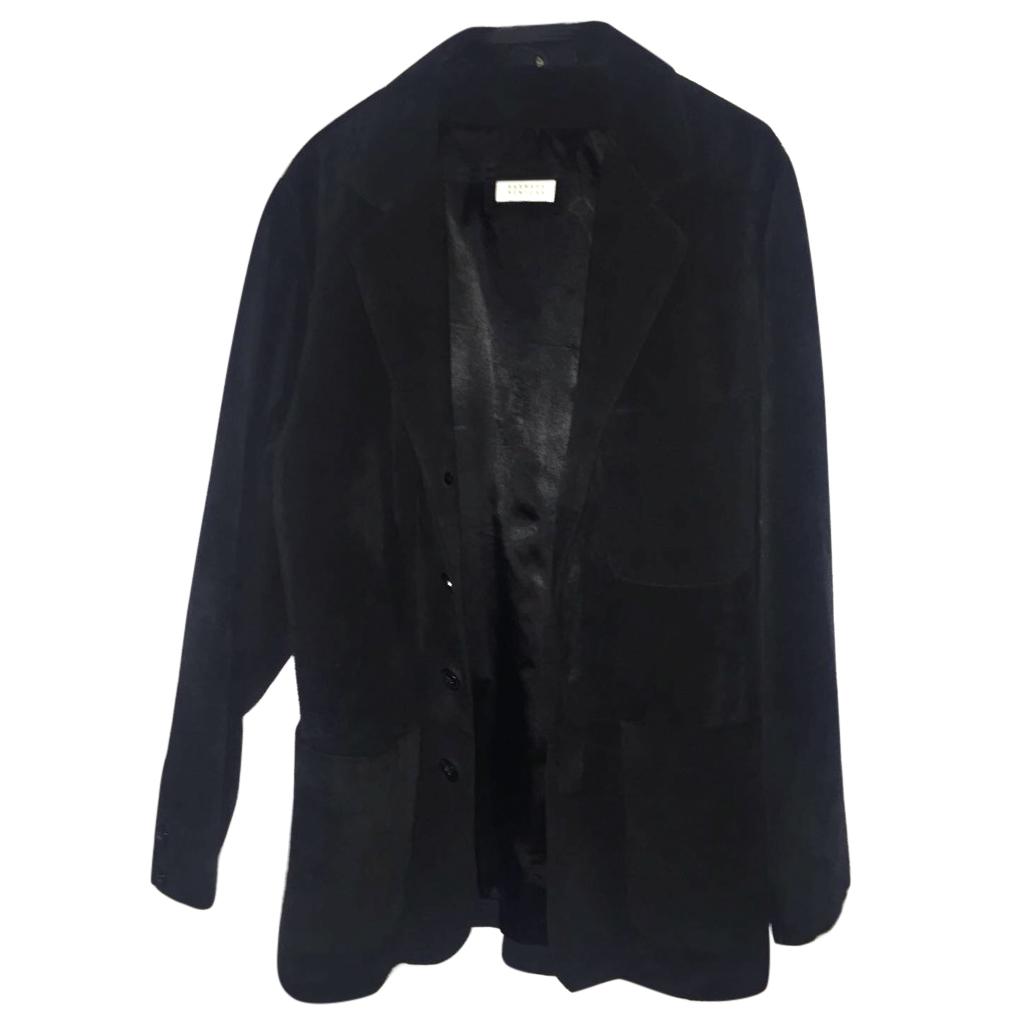 Barneys New York genuine leather blazer
