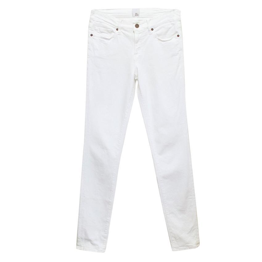 Iris & Ink White Skinny Jeans