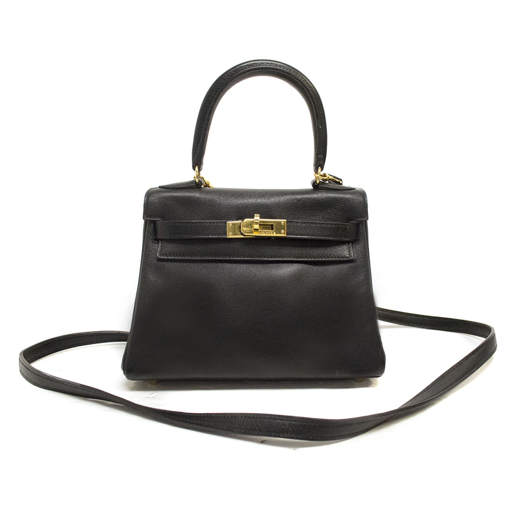 Hermes Black Mini Kelly Bag 20cm in Swift Leather
