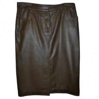 DKNY leather skirt