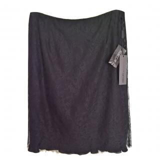 marccain black lace over silk skirt