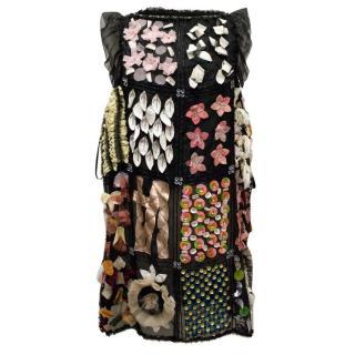 Dolce & Gabbana Patchwork /Embellished Shift Dress
