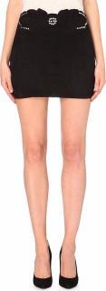 Maje Jackpot Studded Suede Leather Skirt