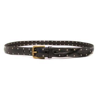 Dolce & Gabbana Black Leather Studded Belt