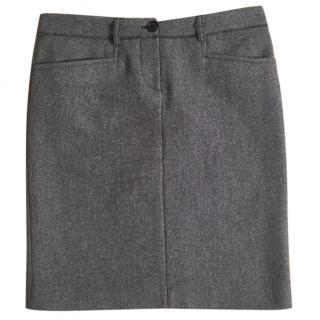 MIU MIU virgin wool grey pencil skirt adjustable length