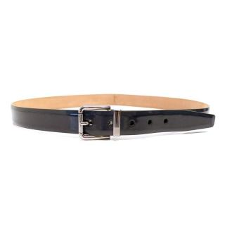 Dolce & Gabbana Navy Patent Leather Belt
