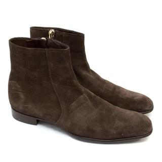 Tom Ford Men's Brown Suede Boots