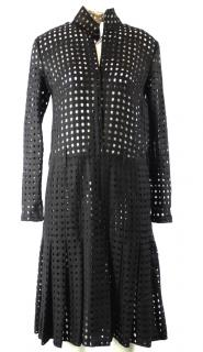Akris Black Caged Dress
