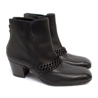 Bottega Veneta Black Boots with Chain