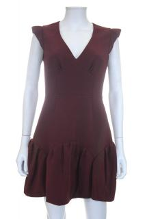 Miu Miu Peplum Hem Crepe Dress