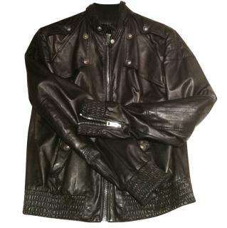 Gucci Men's Leather Jacket NEW