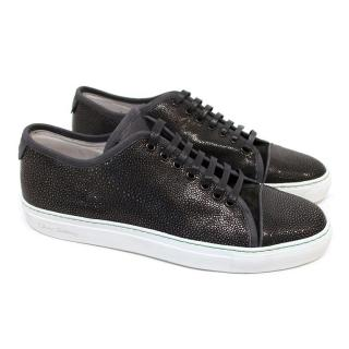 Oliver Sweeney Black Pebbled Leather Trainers
