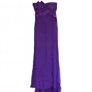 BNWT Versace couture silk purple ball dress It 40 RRP gbp 10,000