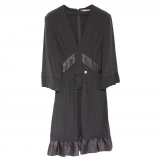Roberto Cavalli Black silk dress It 38