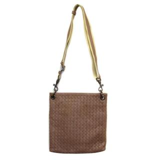 Bottega Veneta Brown Weave Shoulder Bag