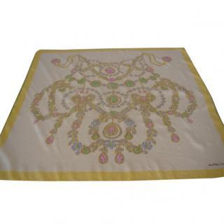 Must de Cartier yellow silk scarf