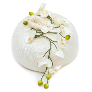 Yvette Jelfs Cream Pillbox Hat