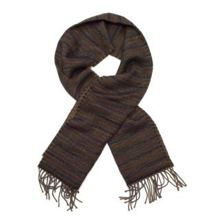 Dolce & Gabbana Reversible Brown & Navy Scarf