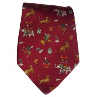 Salvatore Ferragamo red tie