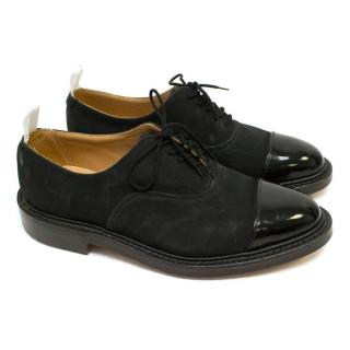 Thom Browne Black Suede & Patent Tip Shoes