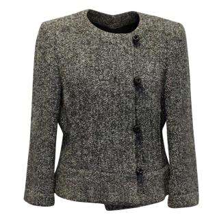 Armani Knitted Black and White Wool Jacket