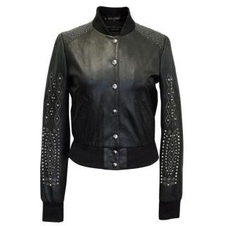 Philipp Plein Black Leather Jacket