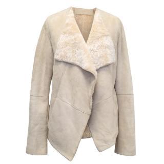 Donna Karan Cream Suede Jacket