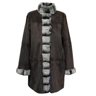 Grey Chinchilla Fur Reversible Coat