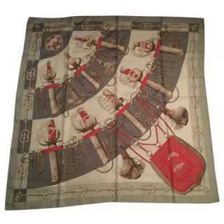 Hermes vintage rare silk scarf