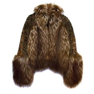 Loewe Brown Fur Jacket
