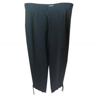 Ladies Giorgio Armani black trouser wide leg size 12