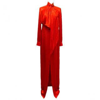 Givenchy Red Silk Gown