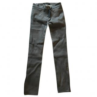 J Brand leather graphite jeans