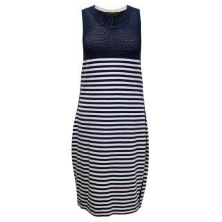 Rag & Bone Navy and White Striped Dress