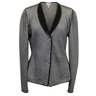Armani Black,Silver & White Stripped Cardigan