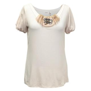 Laurel Light Pink T-Shirt with a Jewelled Embellishment