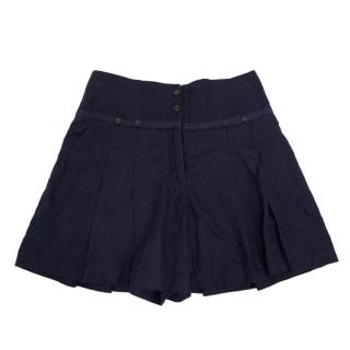 Matthew Williamson Navy Mini Skater Skirt